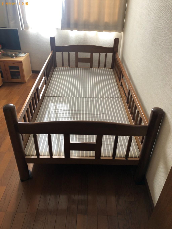 【光市】シングルベッド枠のみの出張不用品回収・処分ご依頼