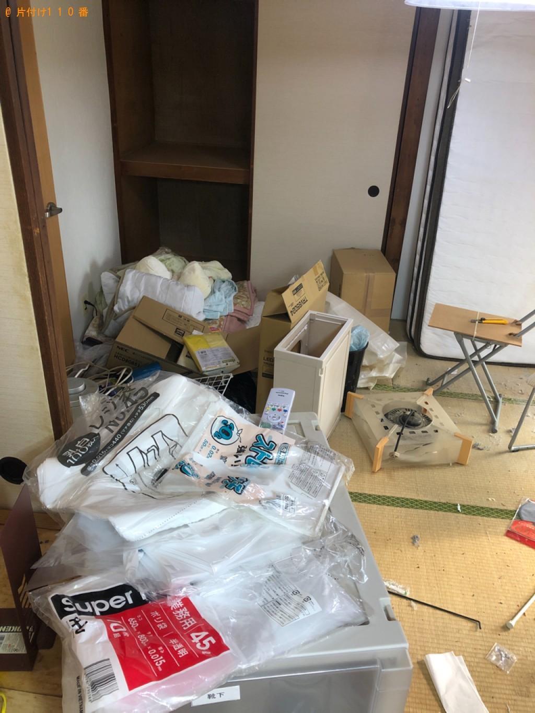 【北九州市小倉北区】引っ越し作業と出張不用品回収・処分ご依頼