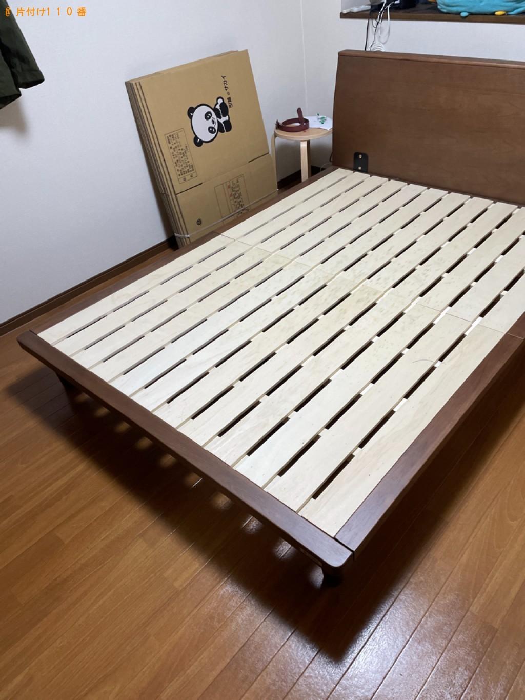 【大津市】ダブルベッドマットレスの出張不用品回収・処分ご依頼