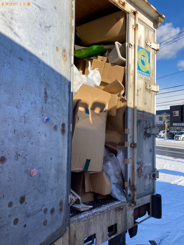 【札幌市】2tトラックパックでの出張不用品回収・処分ご依頼