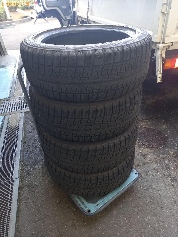 【横浜市中区】自動車タイヤの出張不用品回収・処分ご依頼