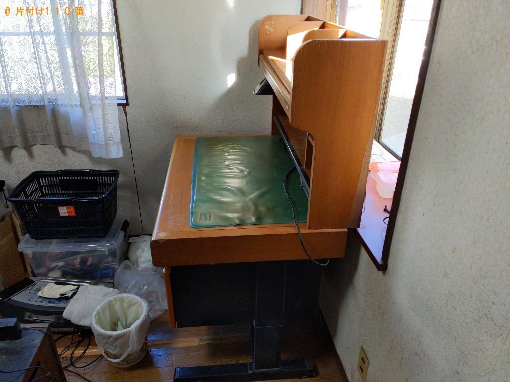 【奈良市西大寺赤田町】学習机の出張不用品回収・処分ご依頼