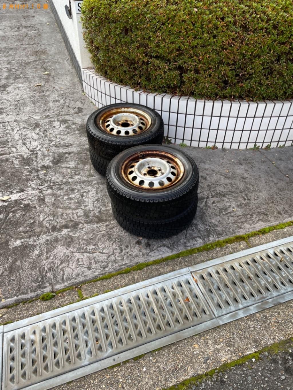 【木津川市】自動車タイヤの出張不用品回収・処分ご依頼 お客様の声