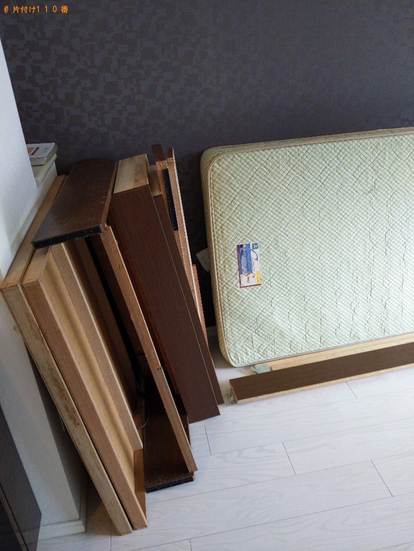【大阪市東住吉区】シングルベッドの出張不用品回収・処分ご依頼