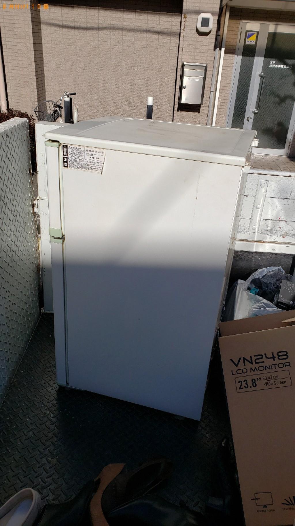 【川口市】170L未満冷蔵庫の出張不用品回収・処分ご依頼