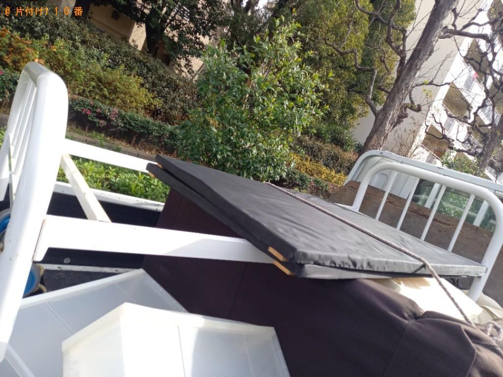 【新宿区】シングルベッド枠のみの出張不用品回収・処分ご依頼