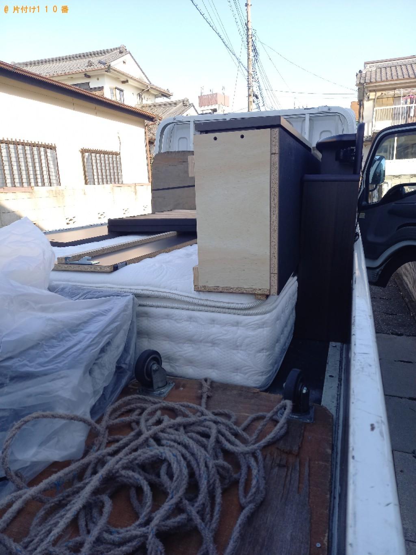 【川崎市中原区】ダブルベッドの出張不用品回収・処分ご依頼