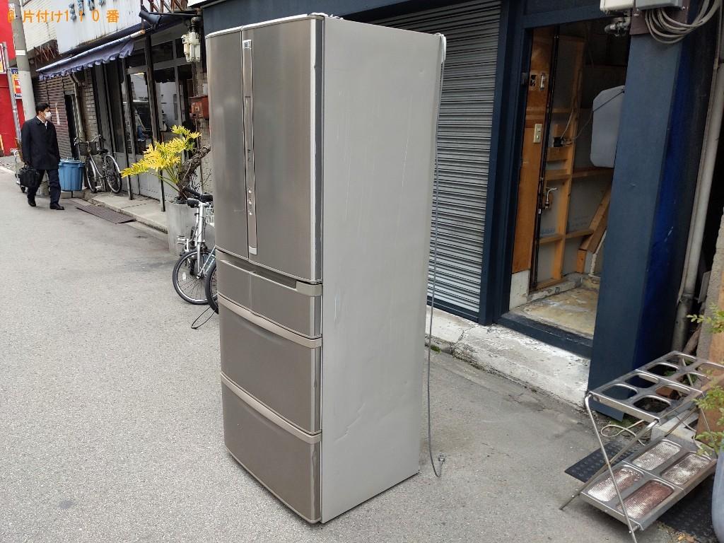 【大阪市中央区】171L以上冷蔵庫の出張不用品回収・処分ご依頼