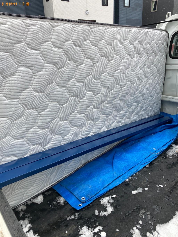 【札幌市豊平区】シングルベッドの出張不用品回収・処分ご依頼