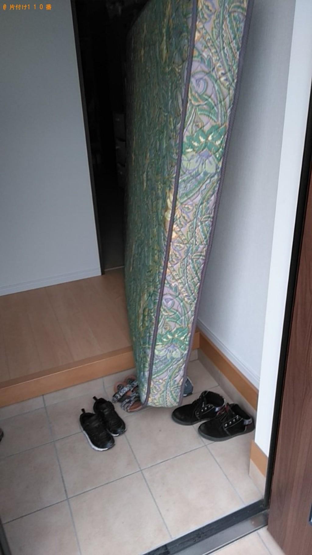 【松山市久米窪田町】ベッドマットレスの出張不用品回収・処分ご依頼