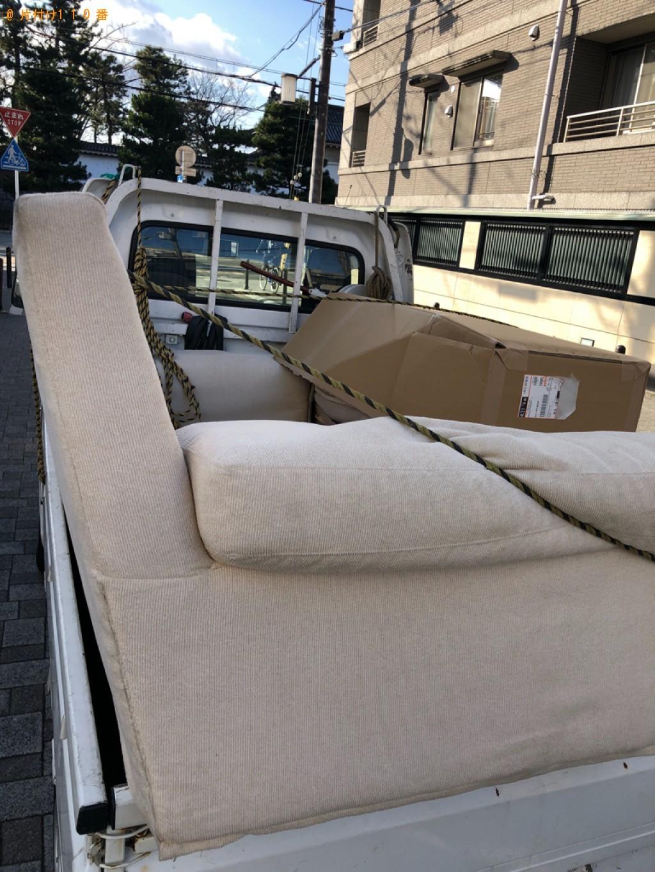 【京都市上京区】ソファーの出張不用品回収・処分ご依頼 お客様の声