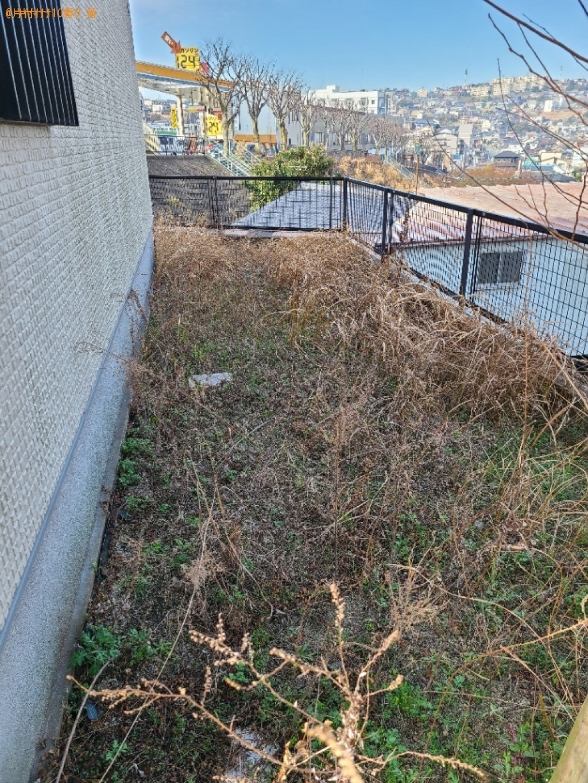 【北九州市戸畑区】草刈り作業とゴミの出張不用品回収・処分ご依頼