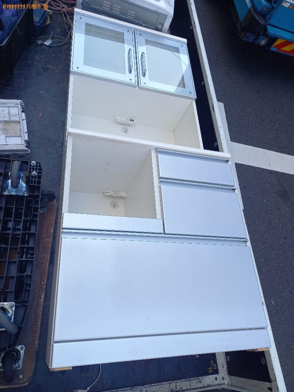 【中央区日本橋人形町】食器棚の出張不用品回収・処分ご依頼