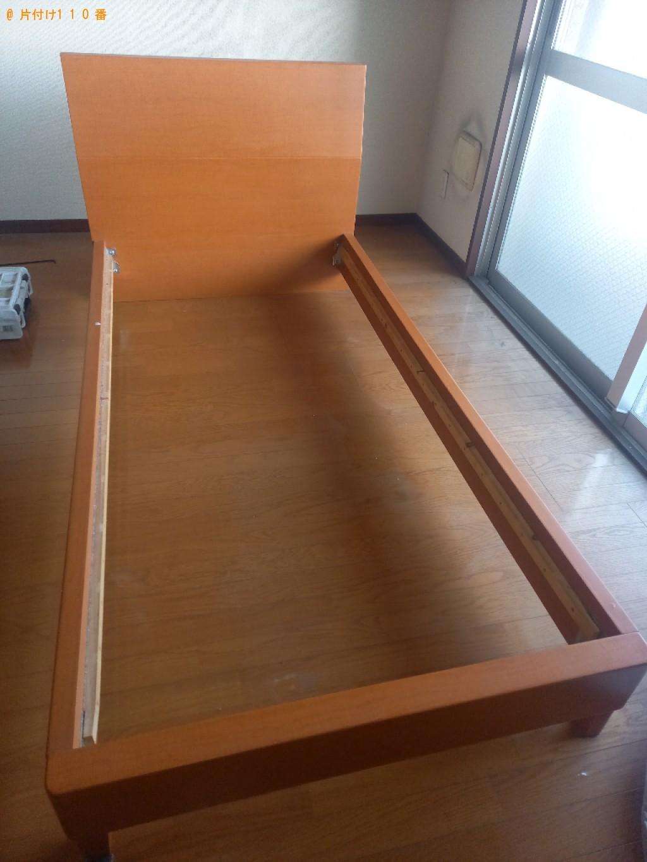 【千葉市中央区】シングルベッド枠のみの出張不用品回収・処分ご依頼