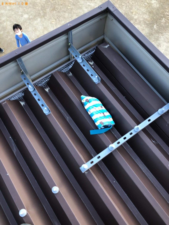 【福岡市東区】屋根の上のボールなどの撤去作業依頼 お客様の声