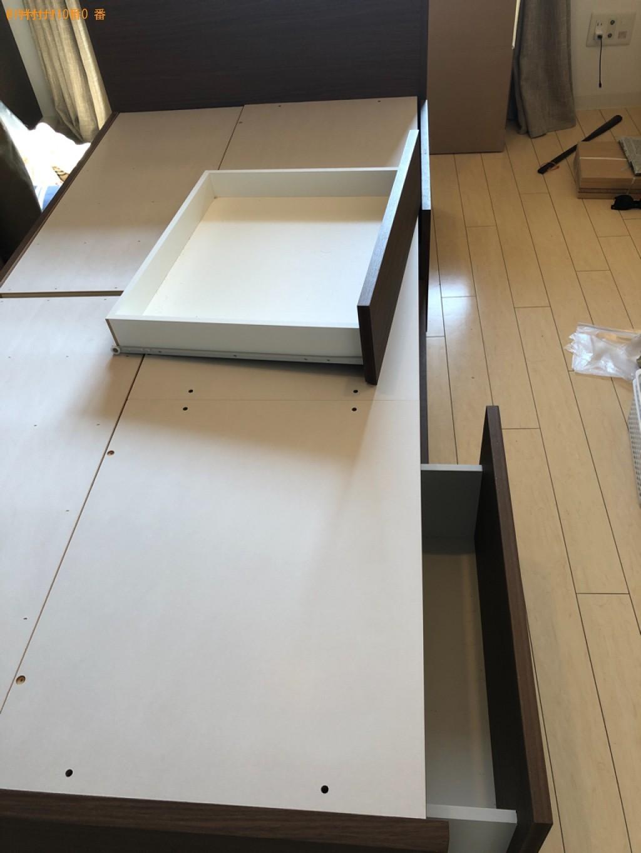 【京都市上京区】シングルベッドの出張不用品回収・処分ご依頼