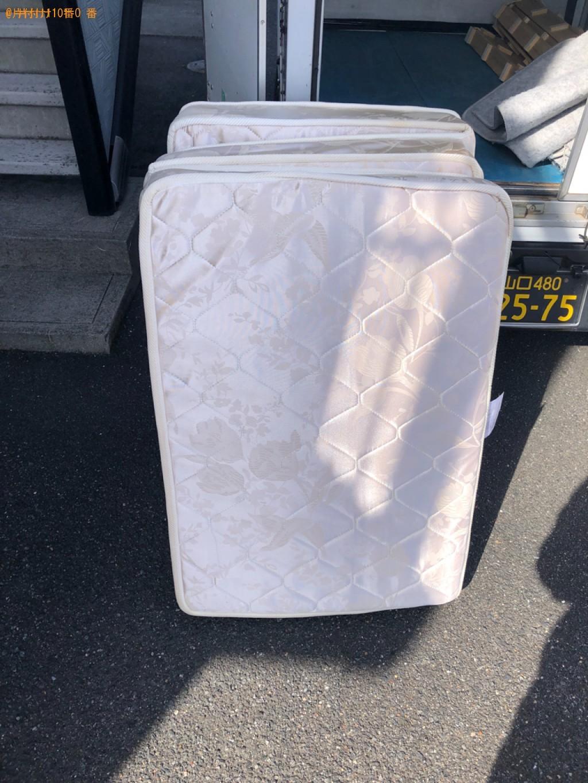 【下松市】シングルベッドマットレスの出張不用品回収・処分ご依頼