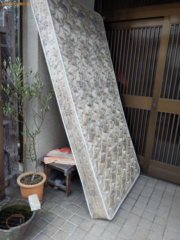 【奈良市朝日町】ベッドマットレスの出張不用品回収・処分ご依頼