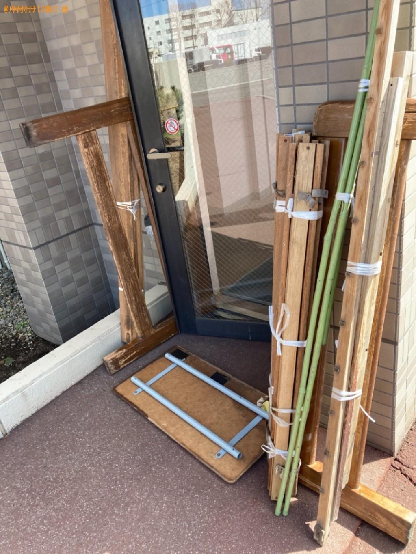 【札幌市白石区】シングルベッド枠のみの出張不用品回収・処分ご依頼